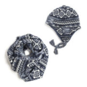 MUK LUKS® Trapper Hat and Eternity Scarf