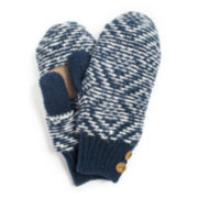 MUK LUKS® Button-Detail Knit Mittens