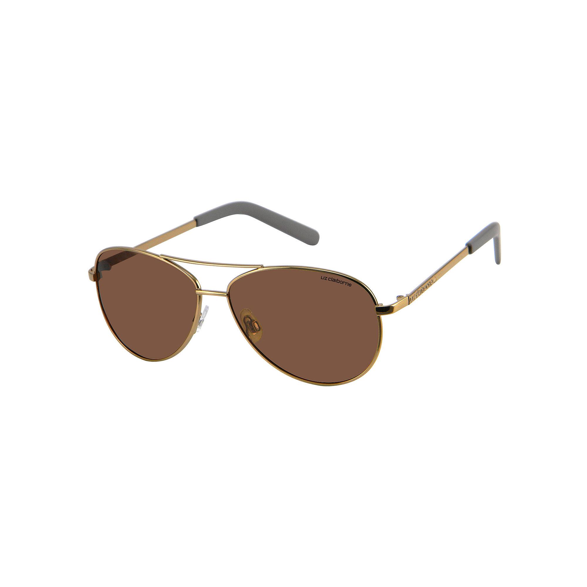 Liz Claiborne Garnet Polarized Aviator Sunglasses
