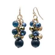 Mixit™ Blue Bead Gold-Tone Cluster Earrings