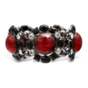 Mixit™ Red and Black Stone Hematite Stretch Bracelet