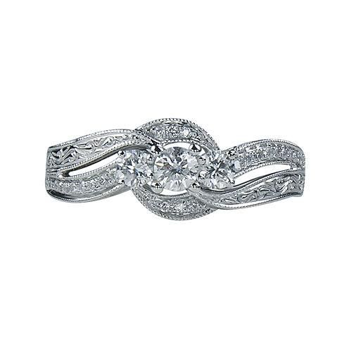 LIMITED QUANTITIES 1/2 CT. T.W. Diamond 3-Stone Ring
