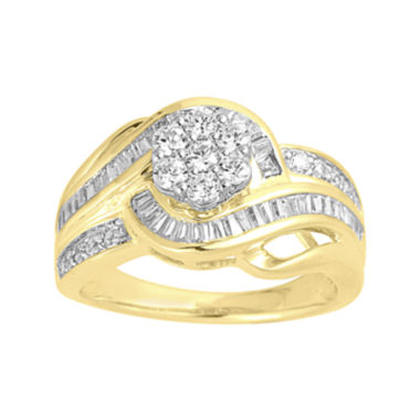 jcpenney.com | LIMITED QUANTITIES 1 CT. T.W. Diamond Two-Tone Gold Swirl Ring