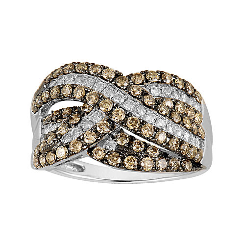 LIMITED QUANTITIES 1½ CT. T.W. White and Champagne Diamond Ring