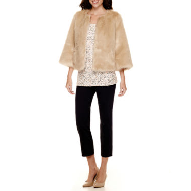 jcpenney.com | Stylus™ Faux-Fur Jacket, Sequin Tank Top or Crossover Ankle Pants - Tall