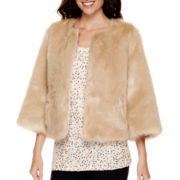 Stylus™ 3/4-Sleeve Faux-Fur Jacket - Tall
