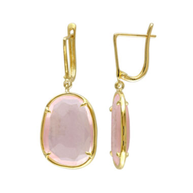 jcpenney.com | Faceted Genuine Pink Quartz Earrings