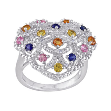 jcpenney.com | Multicolor Genuine Sapphire and Diamond-Accent Ring