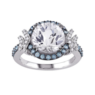 jcpenney.com | 1/8 CT. T.W. Diamond and Multi-Gemstone Halo Ring