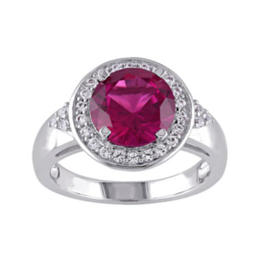 jcpenney.com | Lab-Created Ruby and White Sapphire Sterling Silver Ring