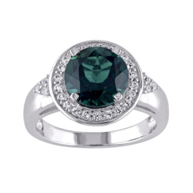 jcpenney.com | Lab-Created Emerald and White Sapphire Sterling Silver Ring