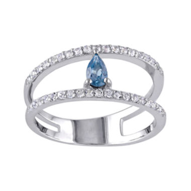jcpenney.com | Genuine Blue and White Topaz Split Band Ring