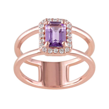 jcpenney.com | Genuine Amethyst and White Topaz Cutout Ring
