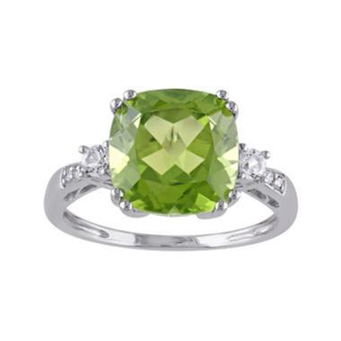 jcpenney.com | Genuine Peridot, Lab-Created White Sapphire and Diamond-Accent Ring