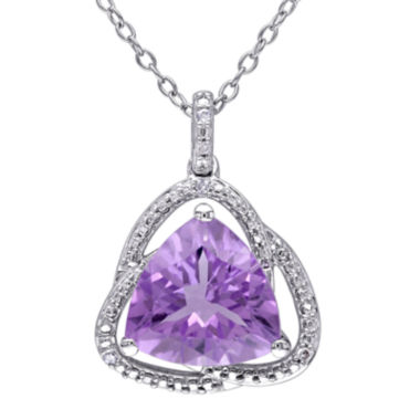 jcpenney.com | Genuine Purple Amethyst and Diamond–Accent Pendant Necklace