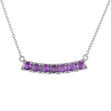 jcpenney.com | Amethyst Sterling Silver Curved Bar Necklace