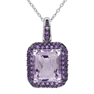 jcpenney.com | Genuine Rose de France and Amethyst Pendant Necklace