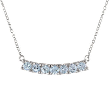 jcpenney.com | Genuine Blue Topaz Sterling Silver Pendant Necklace