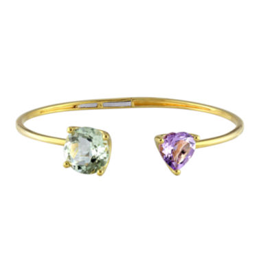 jcpenney.com | Gemstone Yellow Gold Over Silver Bangle Bracelet