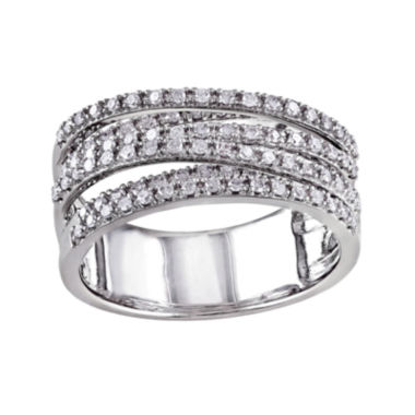 jcpenney.com | 1/2 CT. T.W. Diamond Sterling Silver Crossover Ring