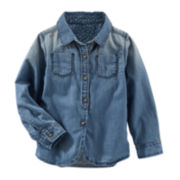 OshKosh B'gosh® Woven Denim Shirt - Toddler Girl 2t-5t