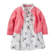 Carter's® Dog Dress and Cardigan - Baby Girls newborn-24m