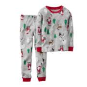 Carter's® Gray Santa Pajamas - Baby Boys 6m-24m