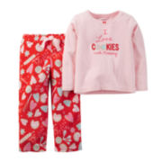 Carter's® Cookie Fleece Pajama Set - Baby Girls 12m-24m