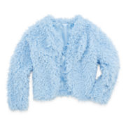 Beautees Faux Fur Jacket - Girls 7-16