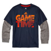 adidas® climalite® Performance Tee - Preschool Boys 4-7