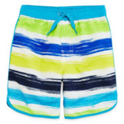 Arizona Crayon Stripe Swim Trunks - Toddler Boys 2t-5t