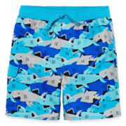 Arizona Shark Camo Swim Trunks - Toddler Boys 2t-5t