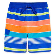 Arizona Multi-Stripe Swim Trunks - Toddler Boys 2t-5t