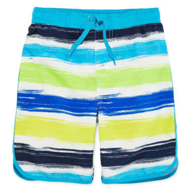jcpenney.com | Arizona Crayon Stripe Swim Trunks - Preschool Boys 4-7