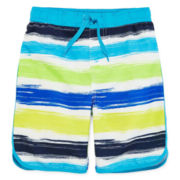 Arizona Crayon Stripe Swim Trunks - Preschool Boys 4-7