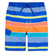 Arizona Multi-Stripe Swim Trunks - Preschool Boys 4-7