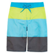 Arizona Colorblock Stripe Swim Trunks - Boys 8-20 and Husky