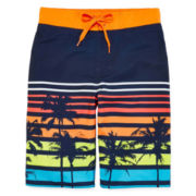Arizona Striped Palm Swim Trunks - Boys 8-20 and Husky