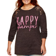 Arizona Long-Sleeve Happy Glamper Tunic Sweatshirt - Plus