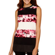 Worthington® Sleeveless Burnout Tunic Top - Petite
