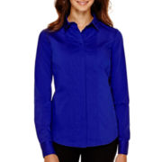 Worthington® Long-Sleeve Essential Shirt - Petite