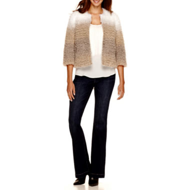 jcpenney.com | a.n.a® Ombré Faux-Fur Jacket, Fringe Tank Top or Jeggings