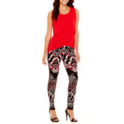 Bisou Bisou® Tiered Tunic Tank Top or Colorblock Printed Leggings