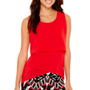 Bisou Bisou® Tiered Tunic Tank Top