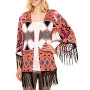 Bisou Bisou® Fringe Kimono