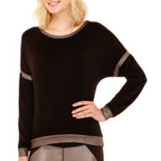 Bisou Bisou® Colorblock Drop Shoulder Sweatshirt