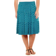 St. John's Bay® Tiered Knit Skirt - Plus