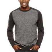 JF J. Ferrar® Marled Crewneck Sweater