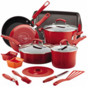 Rachel Ray® 16-pc. Porcelain Enamel Nonstick Cookware Set
