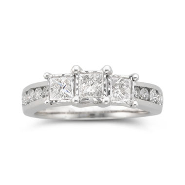 jcpenney.com | TruMiracle® 1 CT. T.W. Diamond 3-Stone Ring 10K White Gold